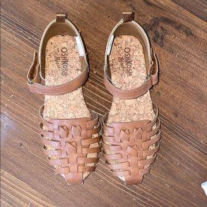 Osh Kosh Halle Closed-Toe Brown Sandal 10